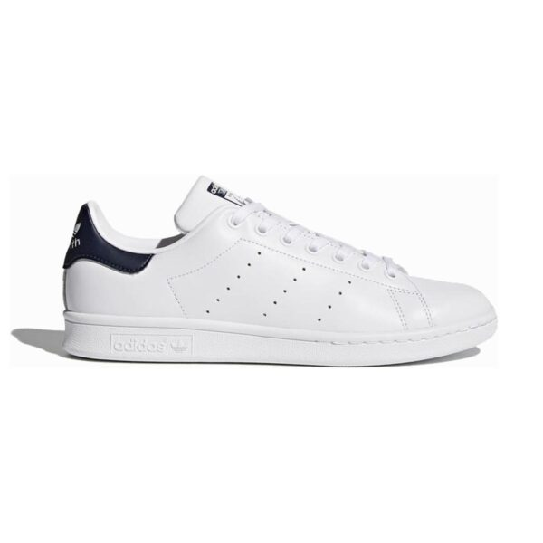 Scarpe Stan Smith Adidas in pelle bianca/blu