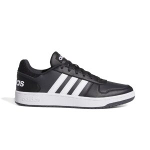 Scarpe Adidas Hoops 2.0 Nere e Bianche