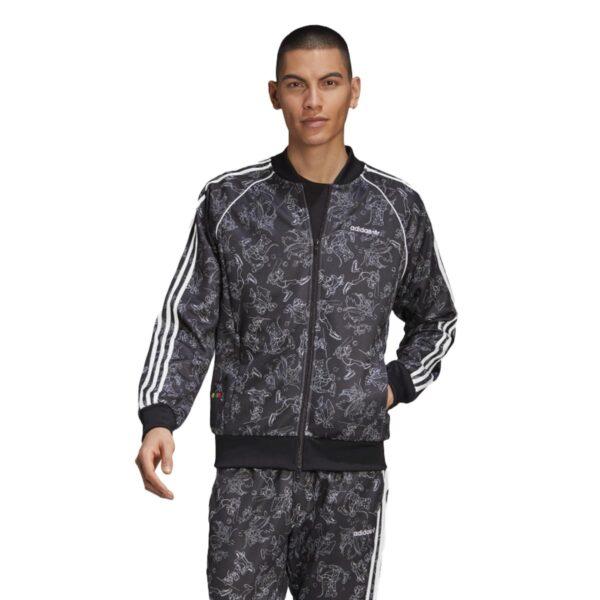 Felpa Goofy SST con Zip Adidas Nera