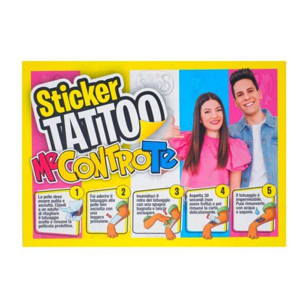 Sticker Tattoo bustina con 15pz Me Contro Te