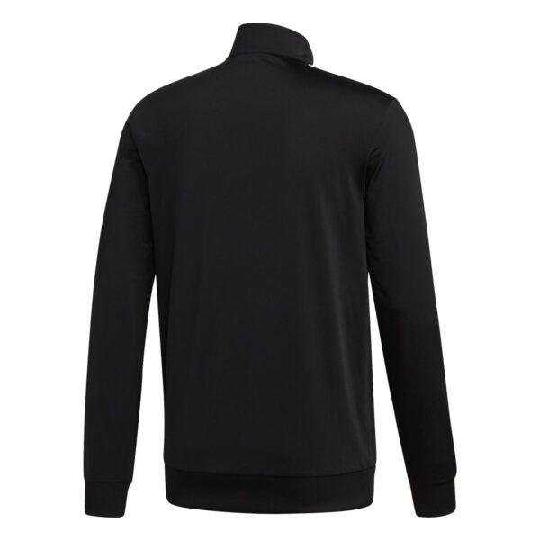 Felpa Adidas Full Zip nera con strisce bianche