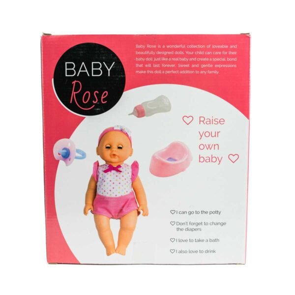 Bambola Baby Rose Drink & Wet 25cm