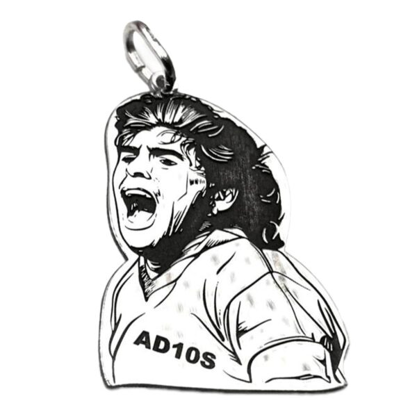 Ciondolo in Argento Busto Diego Maradona 10