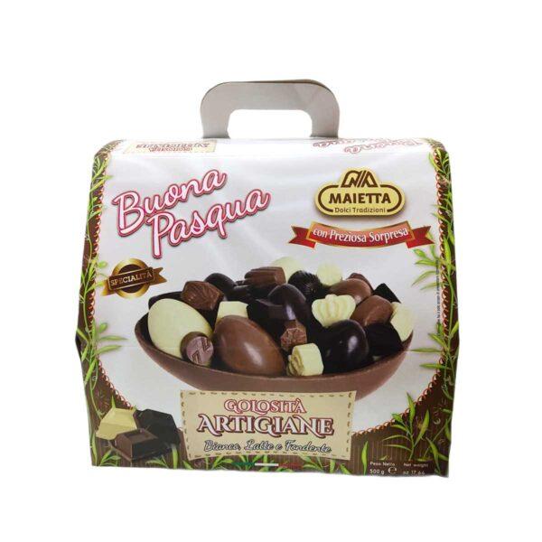 Uovo di Pasqua Cioccolato a Latte Bianco e Fondente