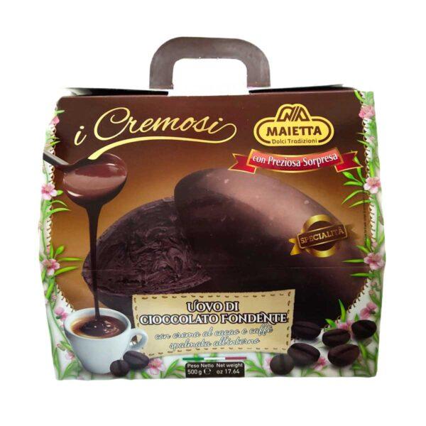 Uovo di Pasqua Cioccolato Fondente e Caffè